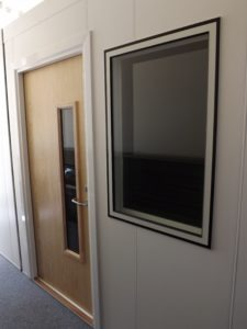 soundproofed music practice rooms