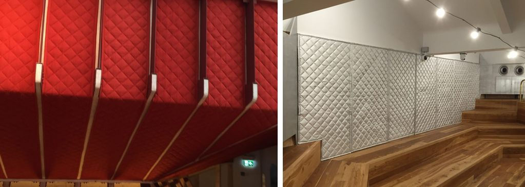 Acoustic blanket soundproofing for studios
