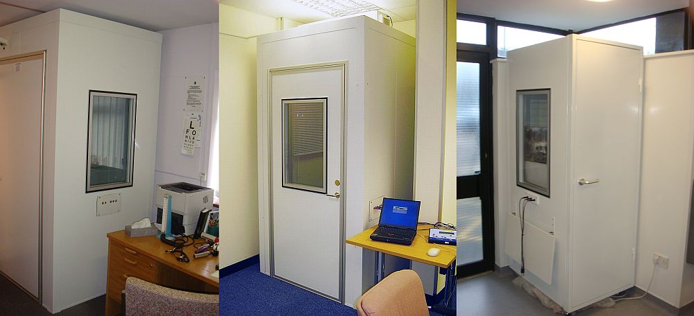Audiometric booth supplied to the Exeter Hearing Centre - with wheelchair access
