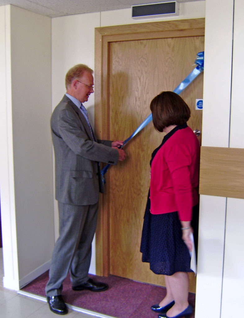 Official opening performed by Garry Nethercott - Chairman of the National Deaf Childrens Society with Jenette Powell - Head of Audiology at James Paget Hospital (Gorleston, Gt Yarmouth)