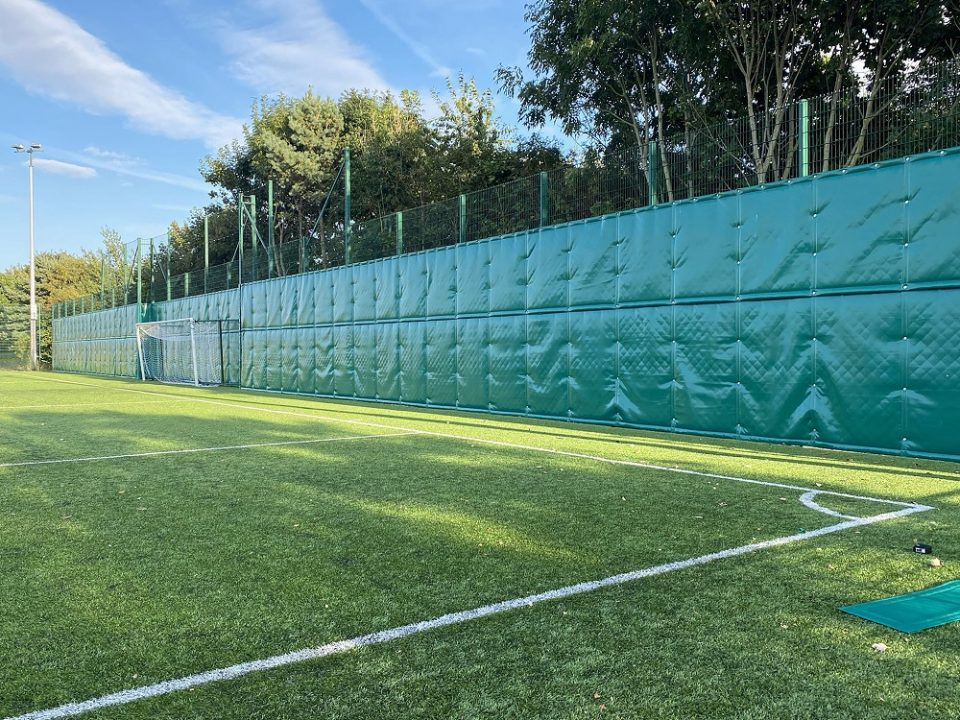 acoustic barrier sports pitch
